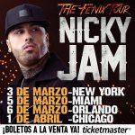 "Nicky Jam anuncia ""The Fenix Tour"" su primera gira en Estados Unidos"