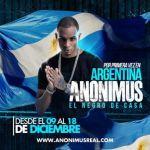 Anonimus por primera vez en Argentina