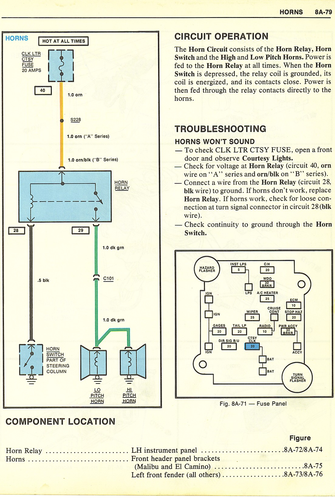 1977 Corvette Horn Wiring Diagram Trusted Diagrams Gmc Heater 77 31 Images 1979 Chevy Schematic
