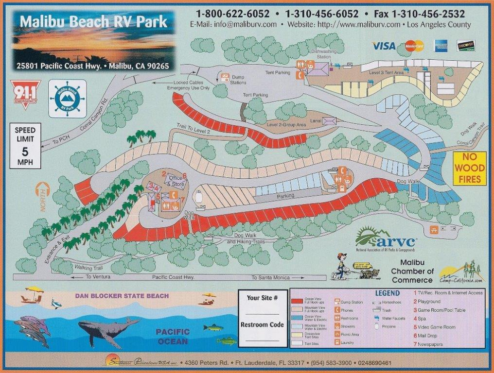 Park Map   Download Park Map   Camping near Los Angeles Malibu Beach RV Park Map