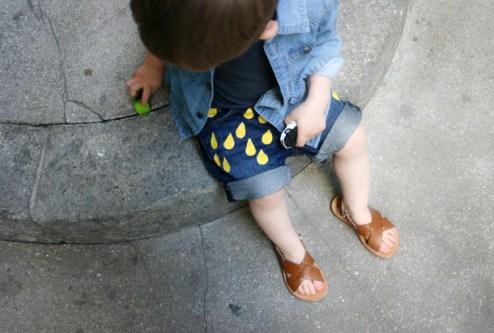 Short en jean chez Lait Fraise