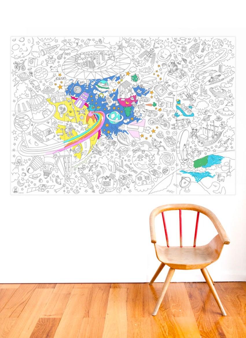 Coloriage Géant Cosmos Cadeau Enfant Anniversaire Love Kids5