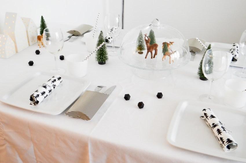 table de Noël black & white
