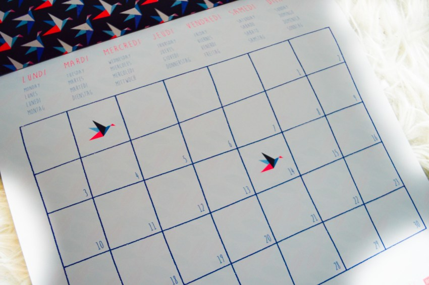 calendrier origami by Lilidoll