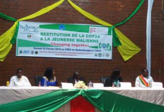 COP24:L'Association CliMates-Mali a fait la restitution auprès des jeunes