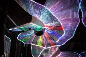 optical fibre textile led art