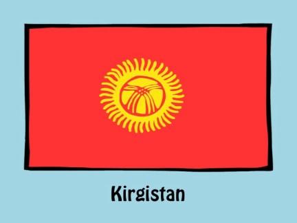 Flagge Kirgistan