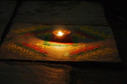 Ranguli und Licht