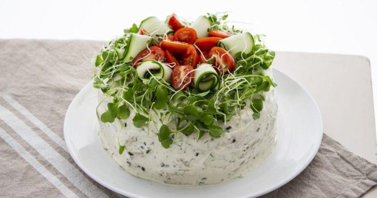 Tutorial: Vegetarisk smörgåstårta
