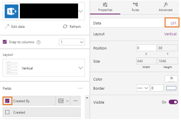 PowerApps: Display the created by user's profile picture in the