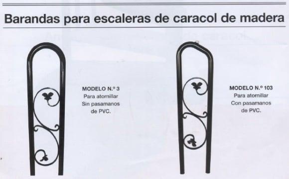 barandas-escalera-madera Escalera de caracol con peldaños de MADERA