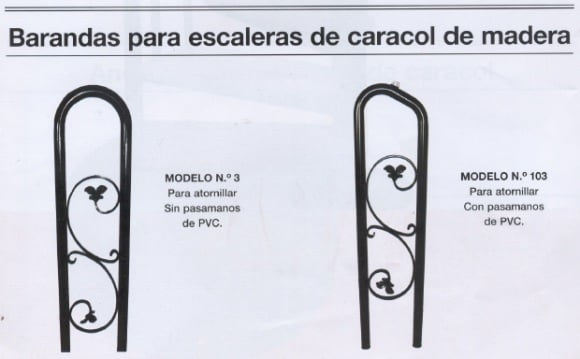 barandas-escalera-madera Escalera de caracol