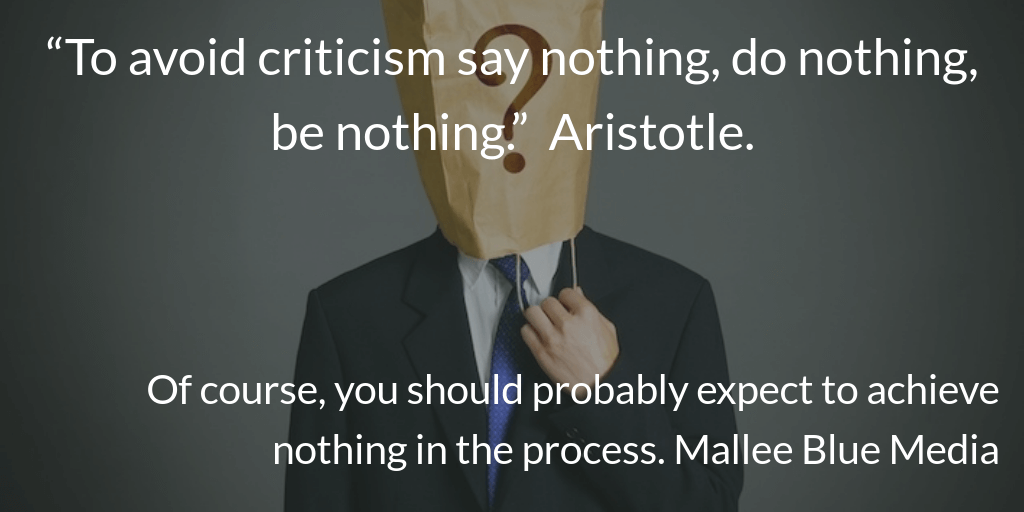 hiding-from-critisism in business