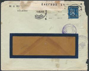 109_1940_3,5mk_sin_sens_ikkunakuorella_Kreikkaan_25-10-40