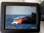 Feuer auf einem Boot bei Andratx