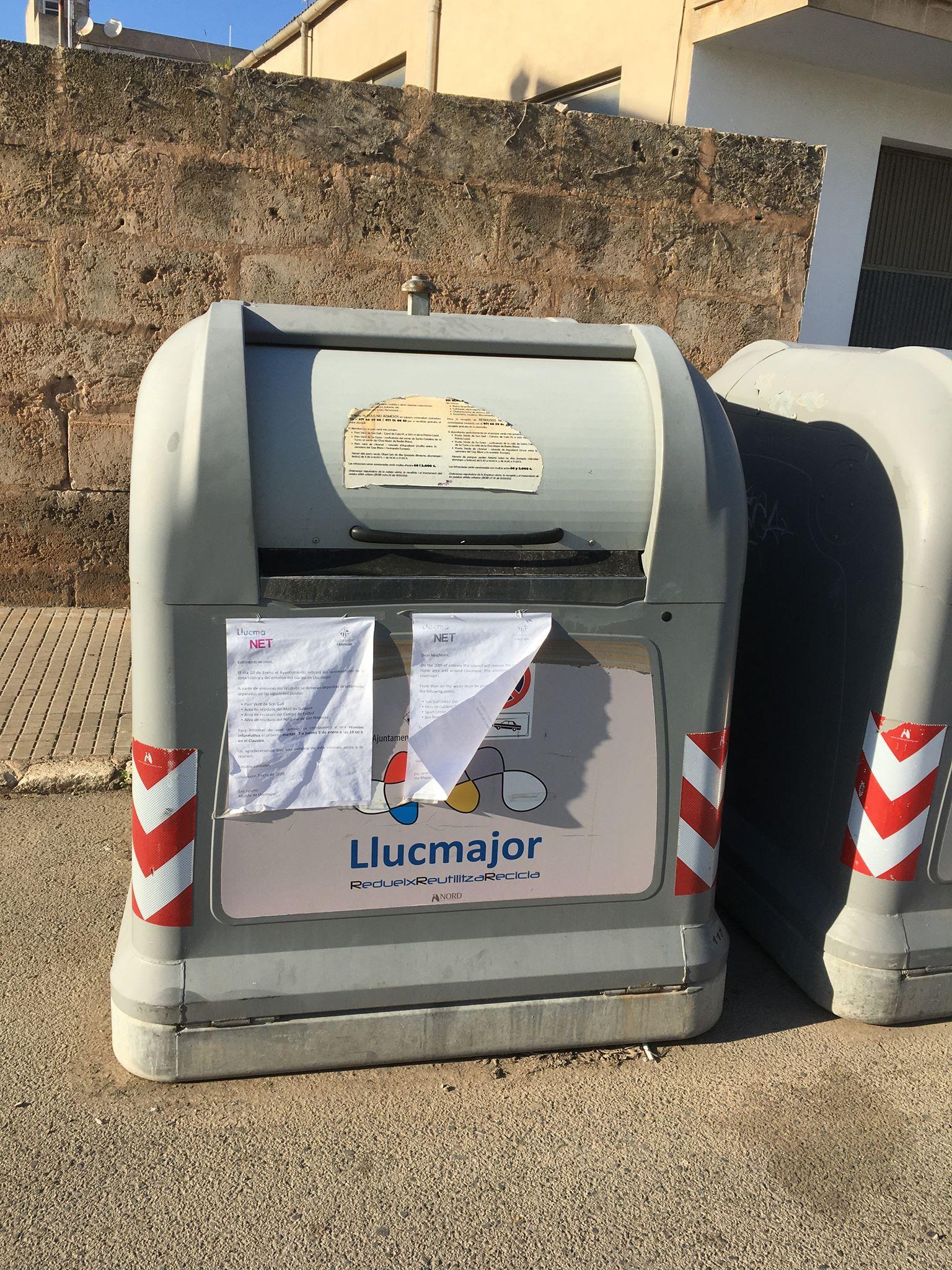 Llucmajor entfernt alle Müllcontainer von den Strassen