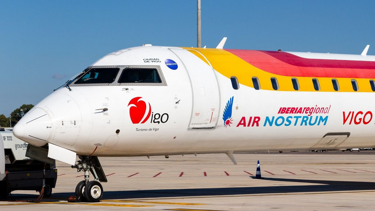 Flugzeug der Airline Air Nostrum
