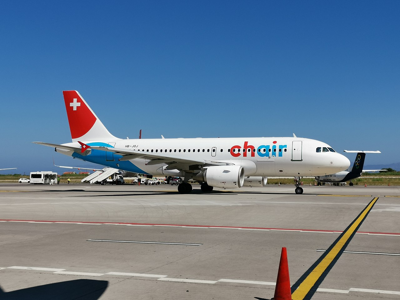 Airbus A319-112 der Chair Airlines