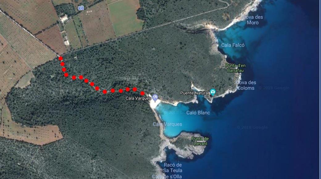Zugang zur Cala Varques