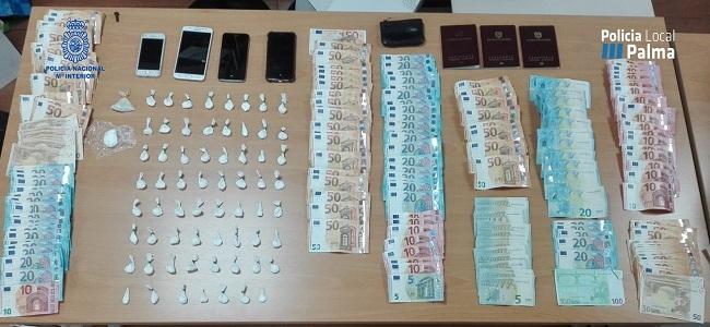 Policía Nacional verhaftet 3 Personen wegen Drogendelikt