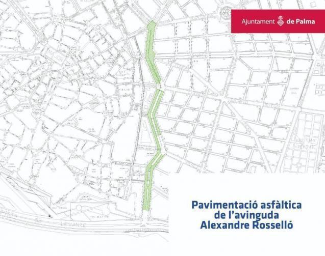Erneuerung des Fahrbahn-Belags der Avenidas in Palma