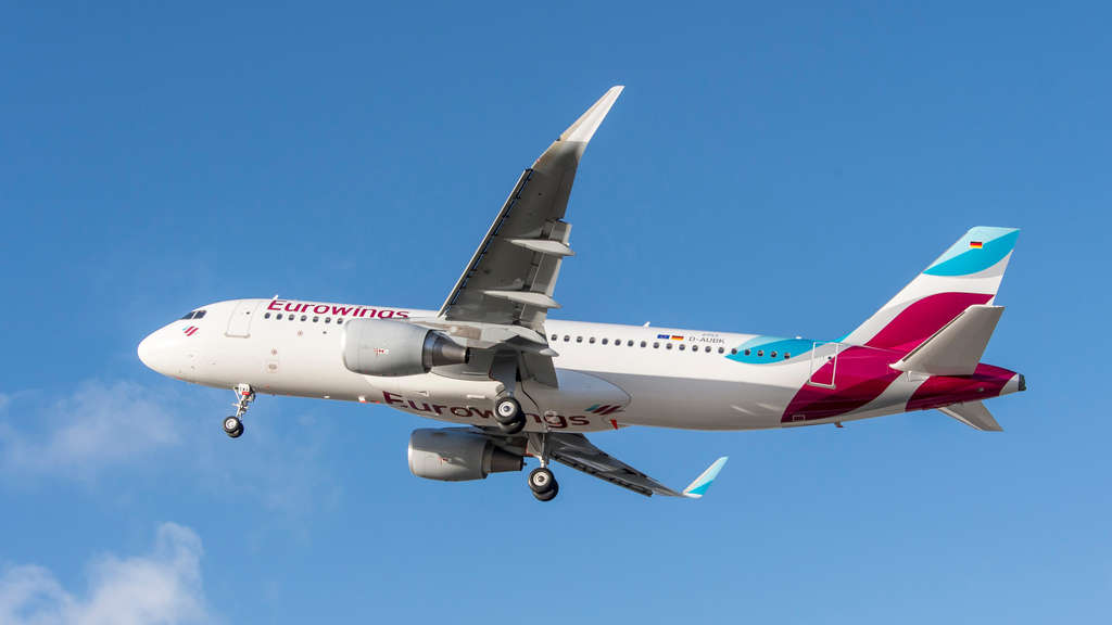 Flugzeug der Airline Eurowings