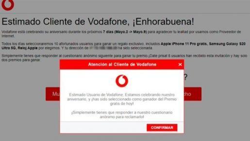 Phishing-Alarm: Jubiläum von Vodafone