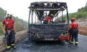 Überlandbus abgebrannt