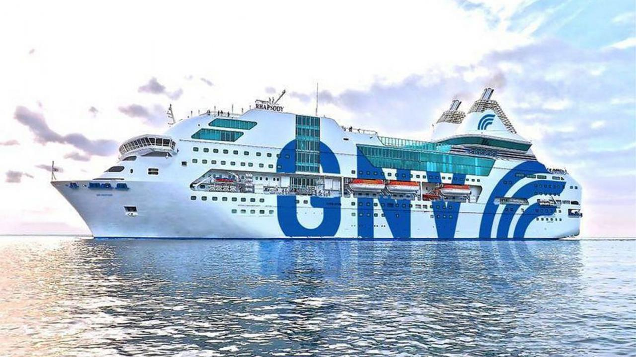 Fähre der Reederei Grandi Navi Veloci (GNV)