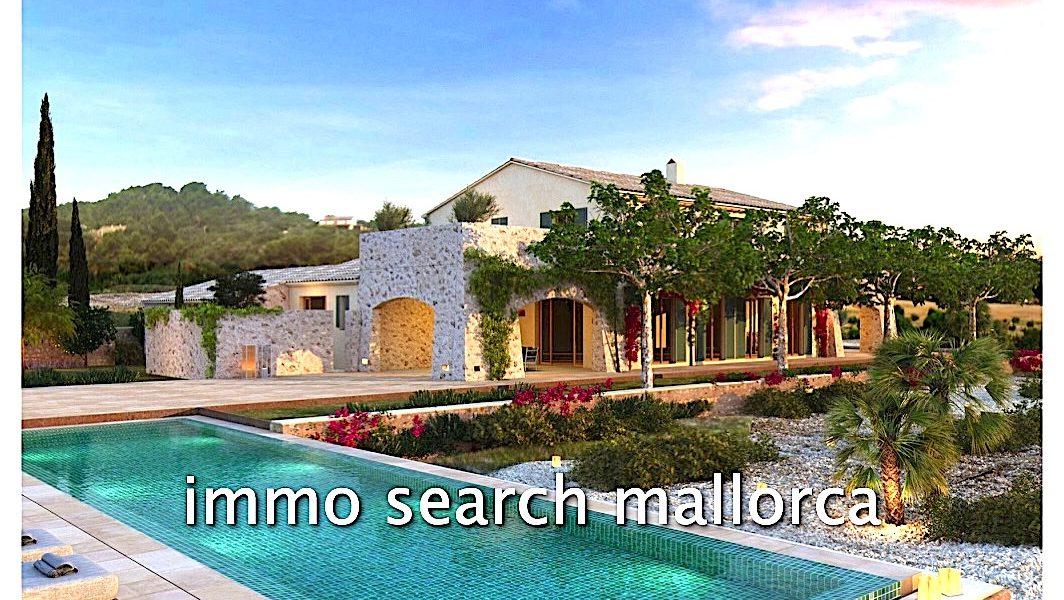 Luxuriöse Neubaufinca auf Mallorca im typischem Landhausstil