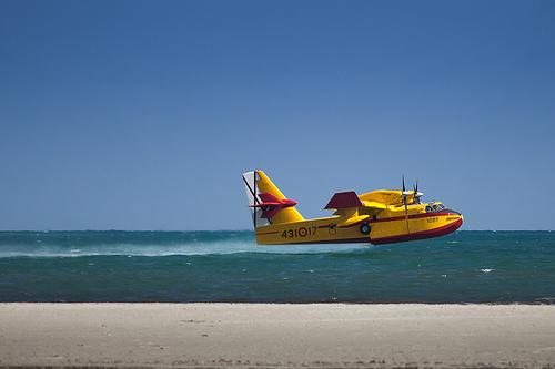 Löschflugzeug auf Mallorca