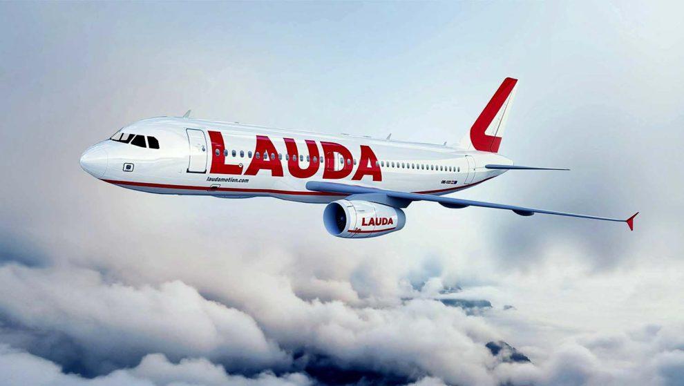 Flugzeug der Airline Lauda