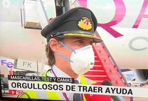 Der mallorquinische Pilot Luis Deyá im TV