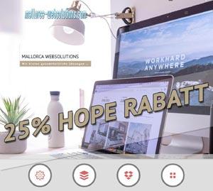 mallorca-websolutions.com - jetzt mit 25% HOPE-Rabatt