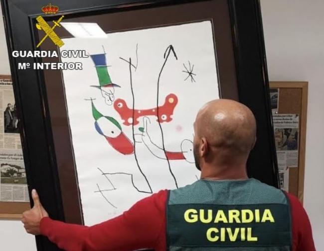 Guardia Civil birgt zwei Lithographien von Joan Miró