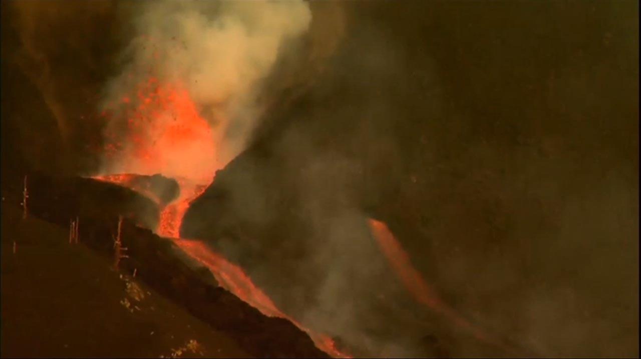 Öffnung an der Vulkanflanke