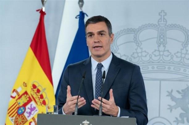 Pedro Sanchez während einer Pressekonferenz