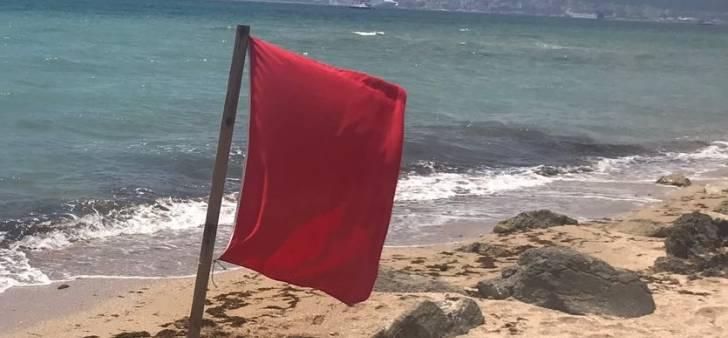 Rote Flagge an Mallorcas Stränden