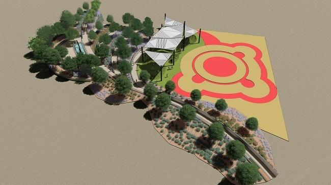 Entwurf des integrativen und sensorischen Park sa Riera