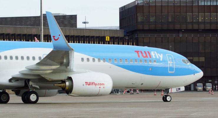 Flugzeug der Airline TUIFly