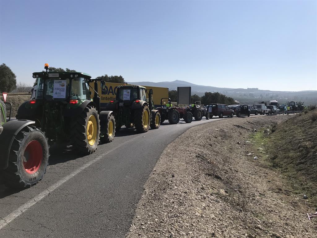 Traktor-Konvoi auf Mallorca