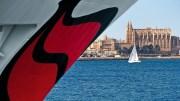 AIDAaura verlässt Mallorca gemeinsam mit AIDAcara und AIDAstella