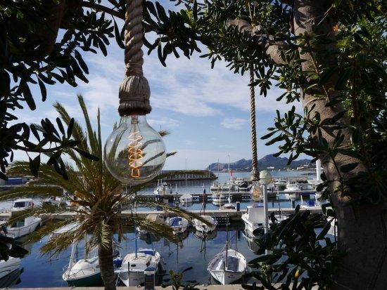Blick von der Terrasse auf Mallorca