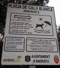 Hundestrand Cala Blanca