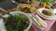 Herzhafter Gratin mit Auberginen und Zucchini