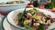 Kartoffelsalat mit zweierlei Bohnen und Oktopus