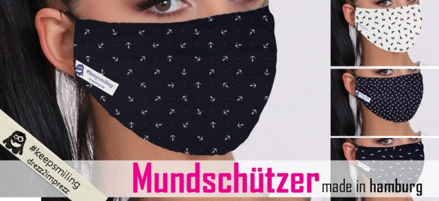 WIEDERVERWENDBARER MUNDSCHÜTZER WASCHBAR #keepsmiling by DREZZ2IMPREZZ
