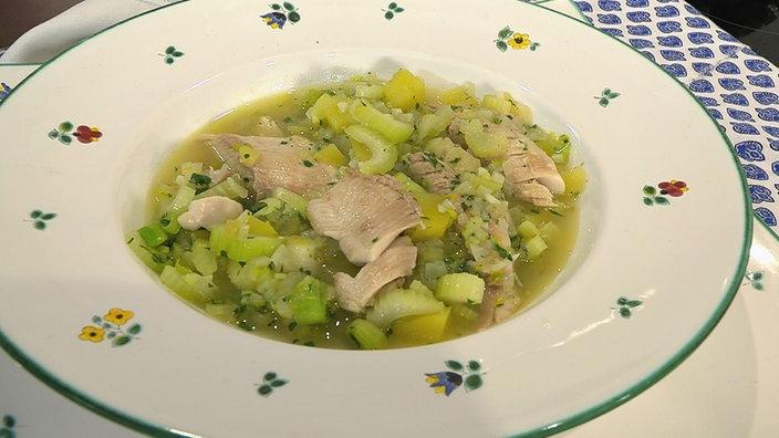 Fischsuppe mit Safran