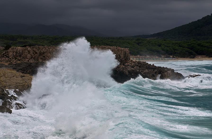 Stürmisches Meer auf Mallorca