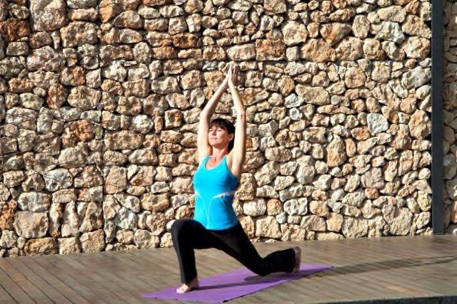 Yogalehrerin Uta Schönbach